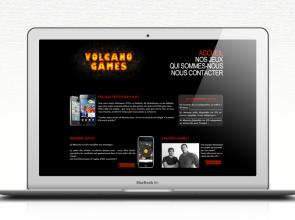 Site Web éditeur de jeux Volcano Games