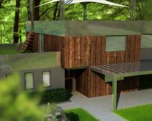 Modélisation et compositing 3D d'une maison